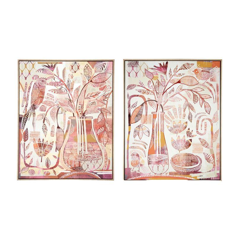 Chloris Natural Frame Canvas 80x100cm Assorted