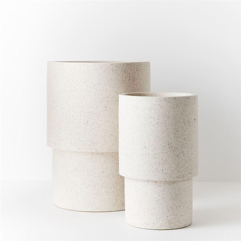 Pot Cenzo Optic White 50x37cm