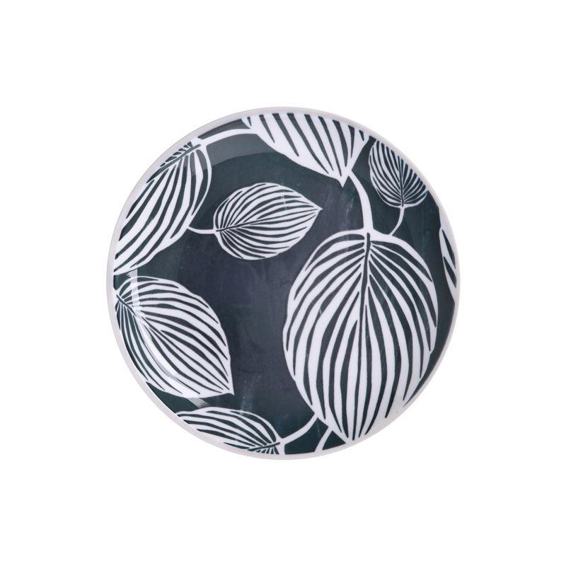 Panama Side Plate 20cm Grey & White