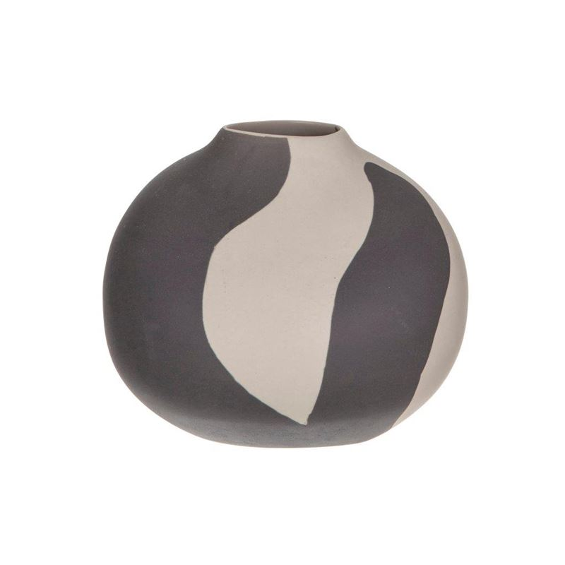 Noa Vase Sand/Black Small