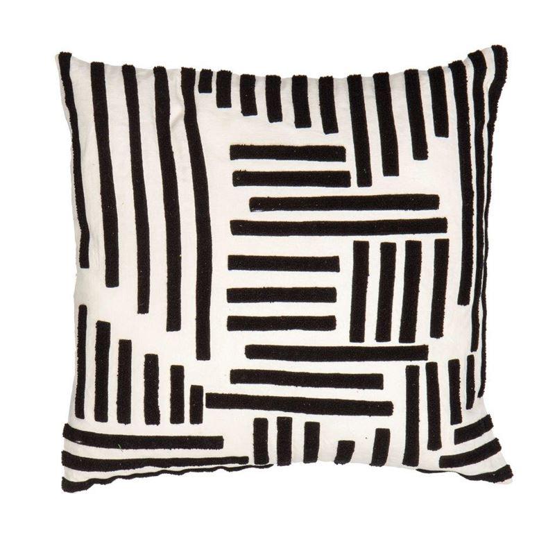 Crossroads Cushion Black/Off White