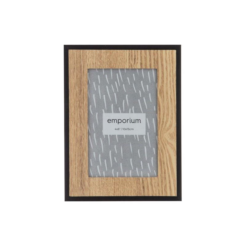 Bassike 4×6′ Photo Frame Black/Natural