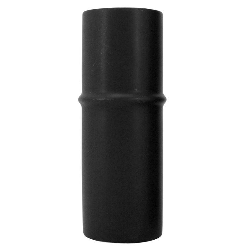 Ceramic Bamboo Vase Black 6×17