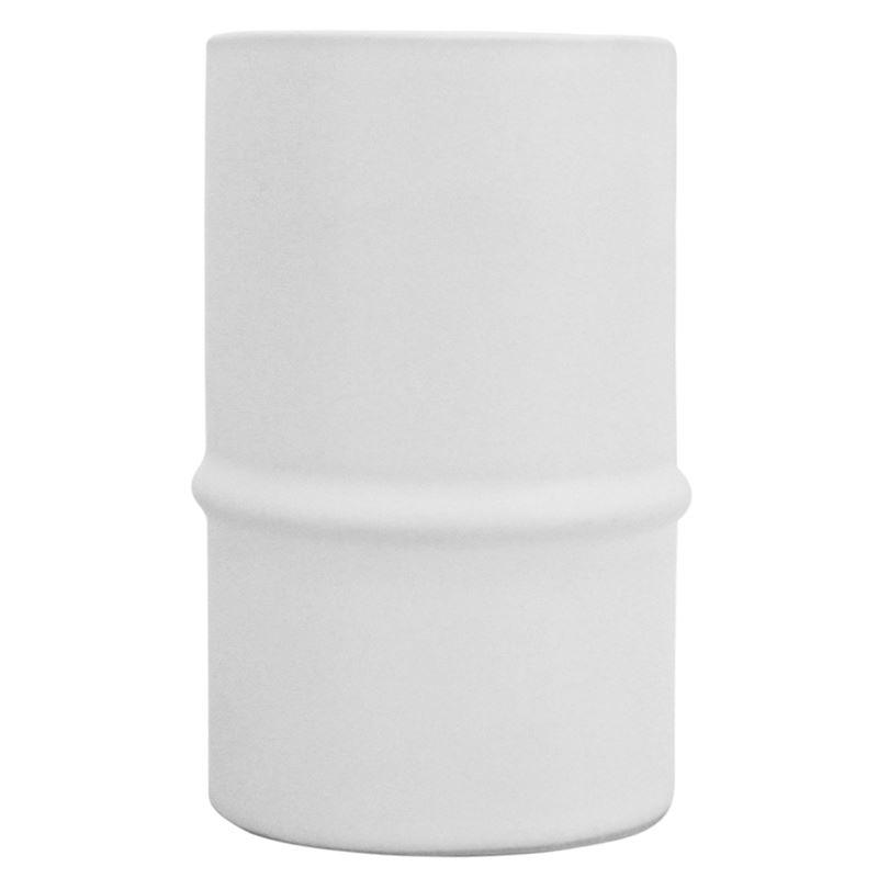 Ceramic Bamboo Vase White 8×13