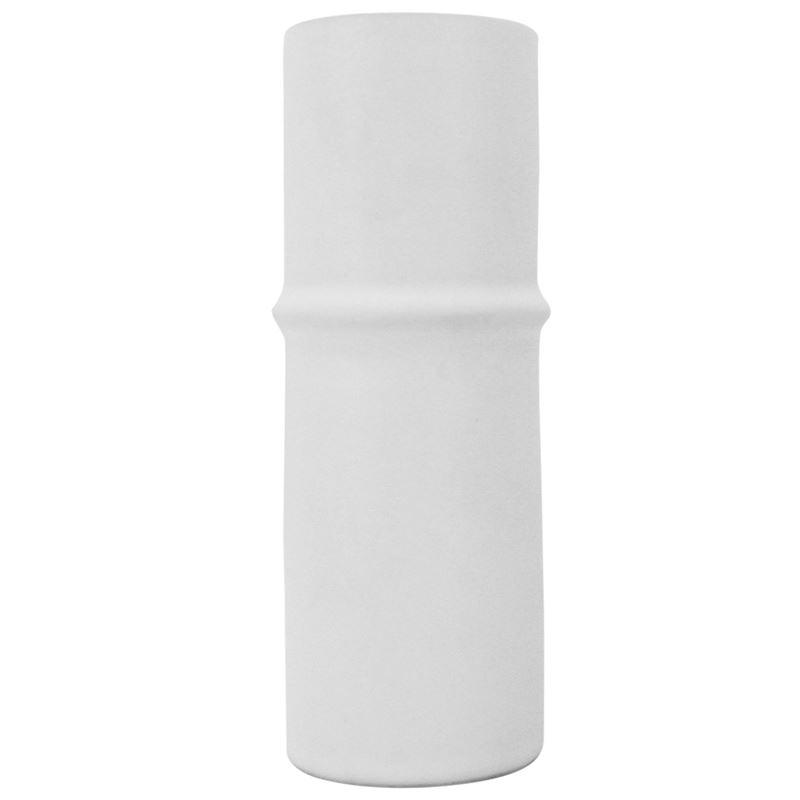 Ceramic Bamboo Vase White 6×17