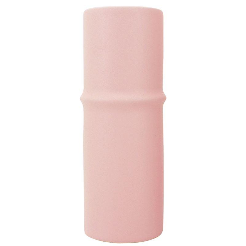 Ceramic Bamboo Vase Pink 6×17