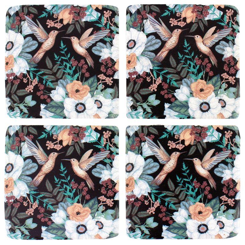 S/4 Hummingbird Garden Coaster