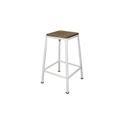 Tube Breakfast Stool White