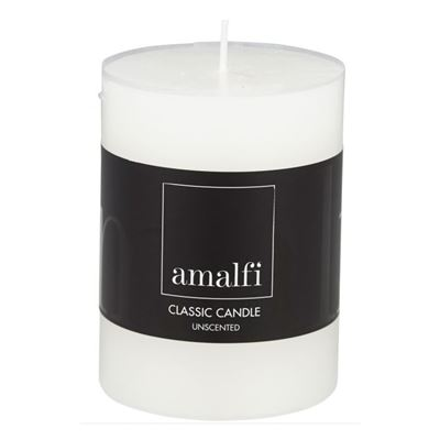 Classic Unscented Pillar Candle White 7.5x10cm