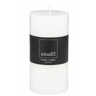 Classic Unscented Pillar Candle White 7.5x15cm