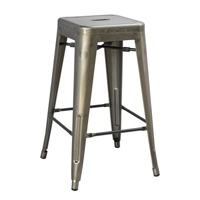 Replica Tolix Metal Bar Stool Gun Metal 76cm