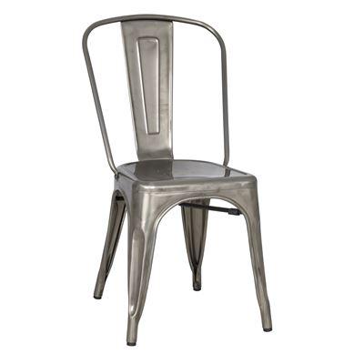 Industrial Navy Chair Gun Metal