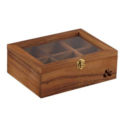 Acacia Wood Tea Box Natural