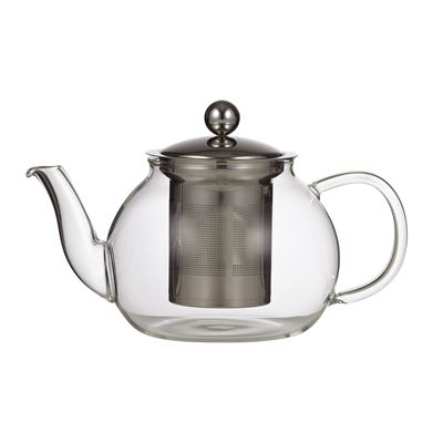 Camellia Teapot With Filter Clear/Stainless Steel