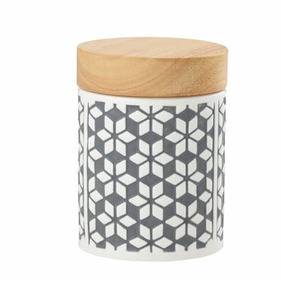Embossed Canister Grey