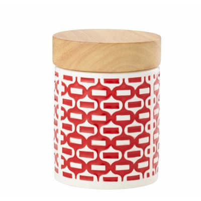 Embossed Canister Red