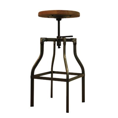 Ashwood Screw Top Stool Gunmetal