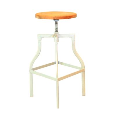 Ashwood Screw Top Stool White