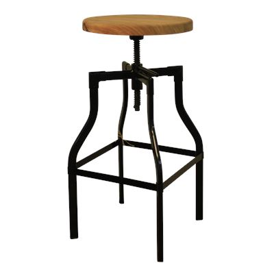 Ashwood Screw Top Stool Black