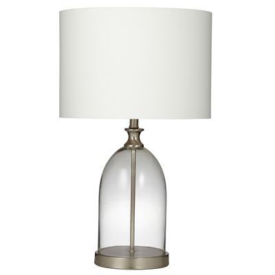 Marlo Table Lamp Clear/Ivory 55Cm