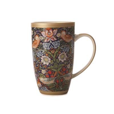William Morris Strawberry Thief Blue Coupe Mug 420ml