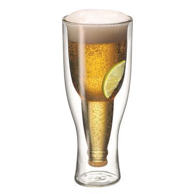 Top Up!!! Twin Wall Beer Glass 400Ml