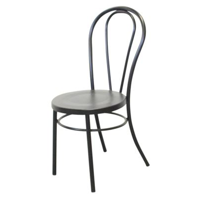 Replica Thonet Metal Chair Frosted Black