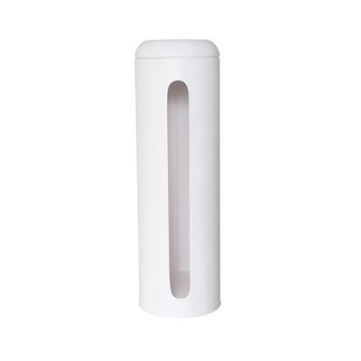 Suds White Metal Toilet Paper Roll Holder