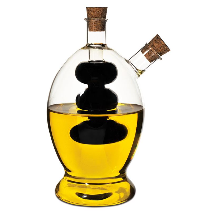 Oil And Vinegar Bottle – Grapes Clear