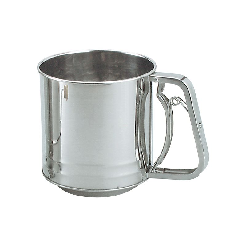 3 Cup Stainless Steel Flour Sifter with Squeeze Handle