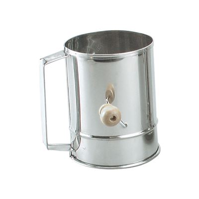 5 Cup Stainless Steel Flour Sifter with Crank Handle