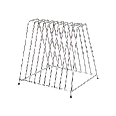 10 Slot Stainless Steel Cutting Board Rack