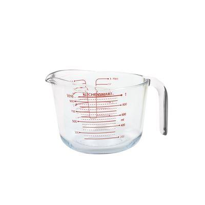 Borosilicate Glass Measuring Jug Clear 1L