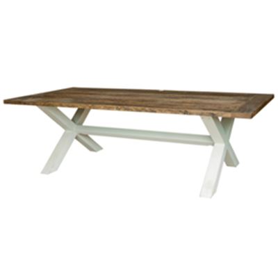 Riviera Cross Leg Dining Table 2.6m