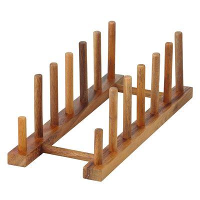 Acacia Wood Plate Stand Natural