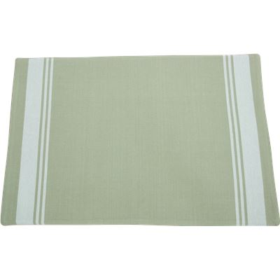 Striped Placemat  33x48cm  Chateau Grey with White Stripes