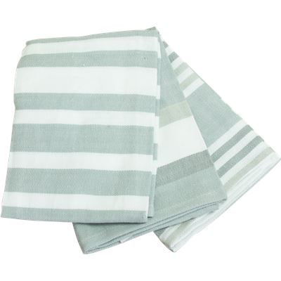 Claremont 3 Pack Tea Towels 50X70Cm Light Grey