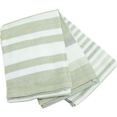 3 Pack Tea Towels  50x70cm  White and Neutral Story
