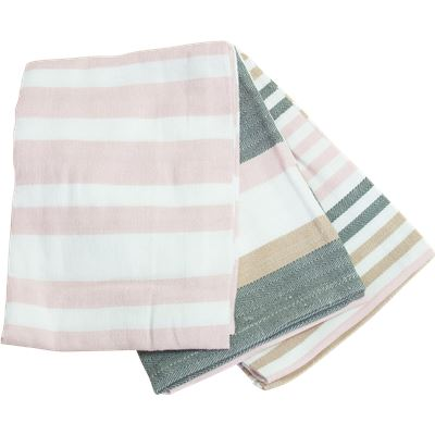 3 Pack Tea Towels  50x70cm  Pink  Story