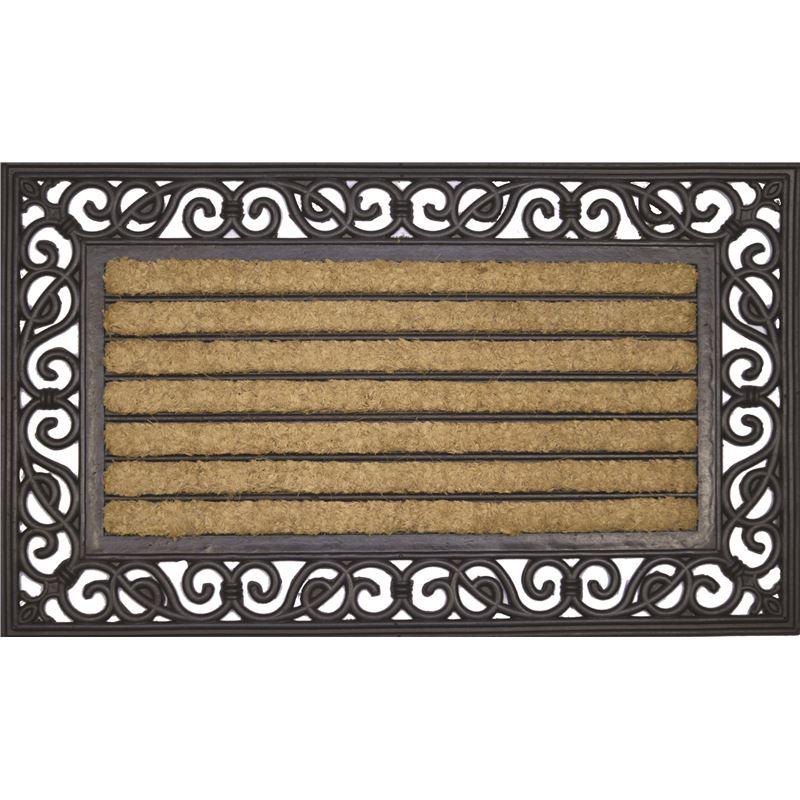Ribbed Doormat Rubber & Coir 45x75cm