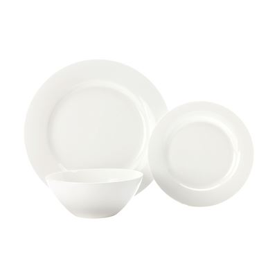 Mw White Basics Condo Dining Set 18 P Gb